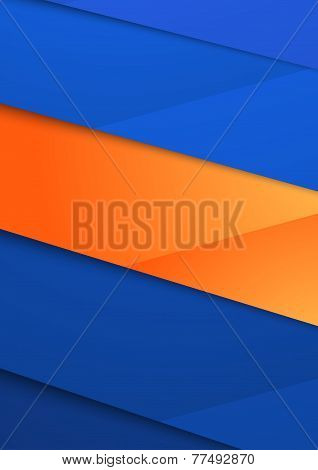 Abstract Layout Blue Orange Folder Design Template