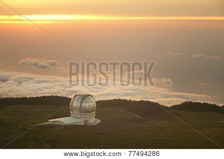 Telescope In Roque De Los Muchachos. La Palma. Spain