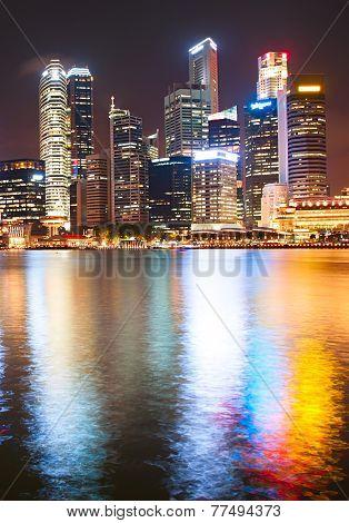 Night Downtown Core, Singapore