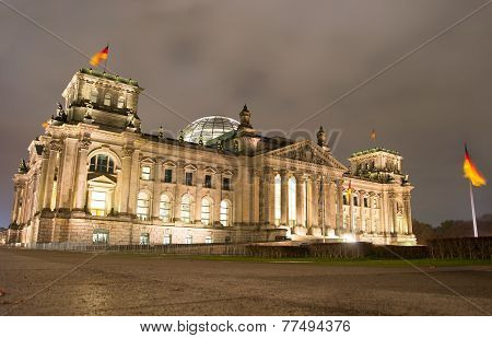 Reichstag At Night, Berlin
