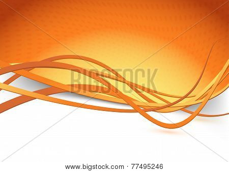 Orange Swoosh Speed Wave Background Dot
