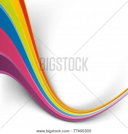 Rainbow Speed Wave Swoosh Colorful Background