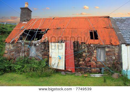 Derelict croft house