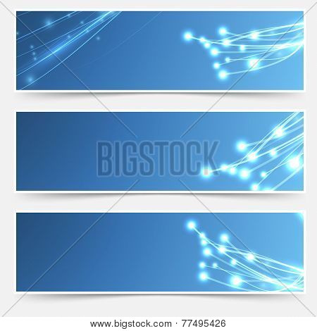 Bright Cable Sparkle Flyer Header Footer Set