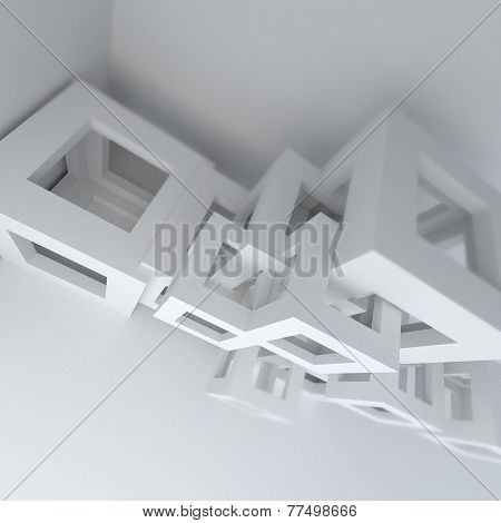 Abstract Architecture White Building Construction