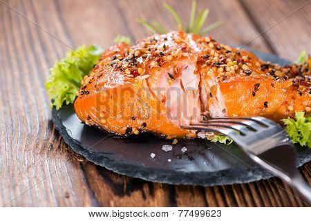 Portion Of Smoked Salmon