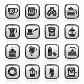 image of sugar industry  - different types of coffee industry icons vector icon set - JPG