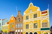 stock photo of curacao  - Architecture details of the colonial houses in Willemstad - JPG