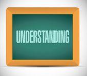 stock photo of understanding  - understanding sign illustration design over a white background - JPG