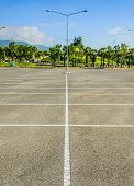 stock photo of parking lot  - Vacant Parking Lot  - JPG