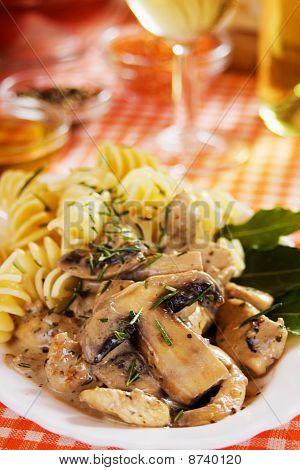 Portabello Mushrooms In Cream Sauce