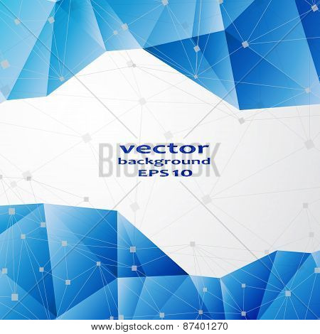 Blue crystal abstract pattern. Business Design