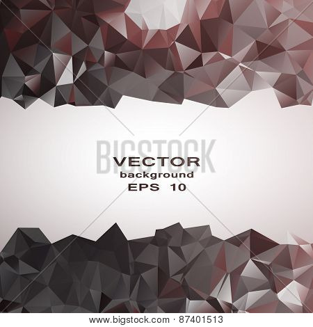 Silver crystal abstract pattern. Business Design