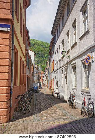 Narrow Street In Heidelberg