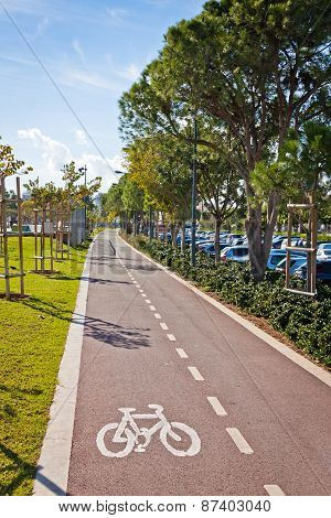 Cycle Lanes At The Molos Park In Limassol, Cyprus