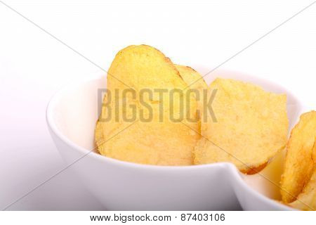 Potato Chips. Close Up