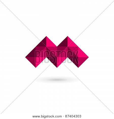 Letter M Mosaic Logo Icon Design Template Elements