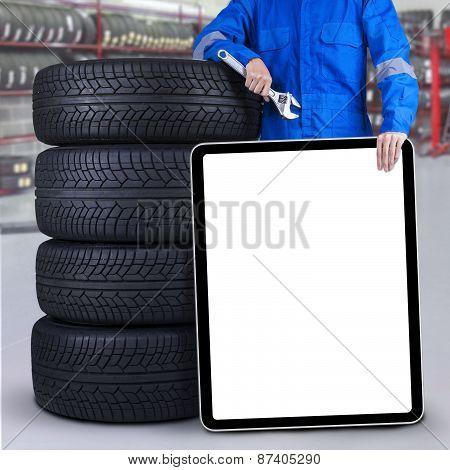 Mechanic With Empty Copyspace