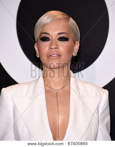 LOS ANGELES - FEB 20:  Rita Ora arrives to the Tom Ford Autumn/Winter 2015 Womenswear Collection Presentation  on February 20, 2015 in Hollywood, CA