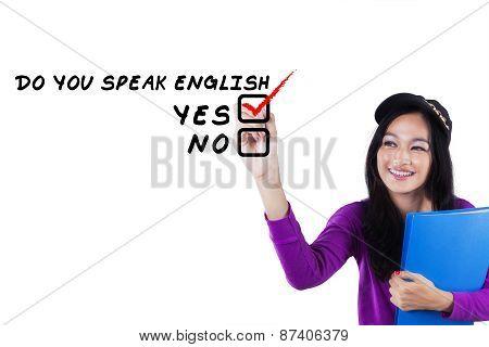 Schoolgirl Learning English