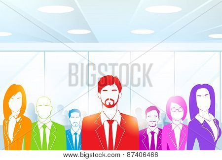 Business People Group at Office Colorful Vector
