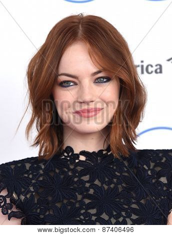 LOS ANGELES - FEB 21:  Emma Stone arrives to the 2015 Film Independent Spirit Awards  on February 21, 2015 in Santa Monica, CA