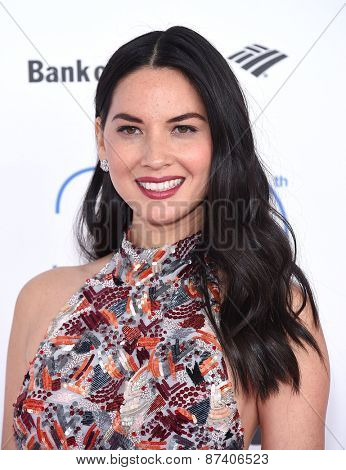 LOS ANGELES - FEB 21:  Olivia Munn arrives to the 2015 Film Independent Spirit Awards  on February 21, 2015 in Santa Monica, CA