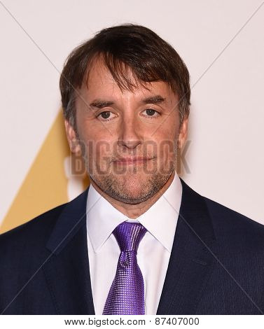 LOS ANGELES - FEB 02:  Richard Linklater arrives to the Oscar Nominee Reception  on February 2, 2015 in Beverly Hills, CA