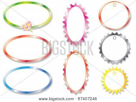 Collection ovals frame