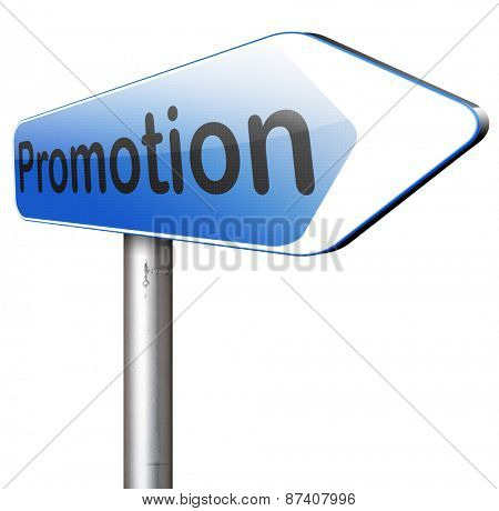 sales promotions in job or product promotion