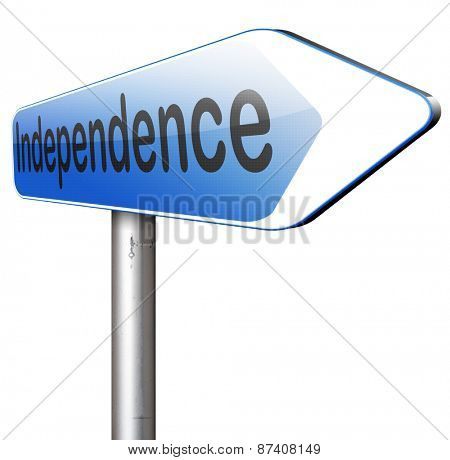 independence self sufficient or self employed independent life for the elderly disabled or young people