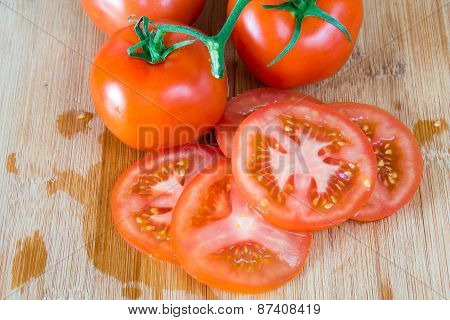 Red Riped Tomatoes Imperfect Realistic Approach