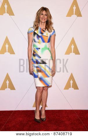 LOS ANGELES - FEB 02:  Laura Dern arrives to the Oscar Nominee Reception  on February 2, 2015 in Beverly Hills, CA