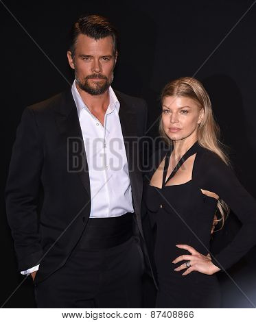 LOS ANGELES - FEB 20:  Fergie & Josh Duhamel arrives to the Tom Ford Autumn/Winter 2015 Womenswear Collection Presentation  on February 20, 2015 in Hollywood, CA