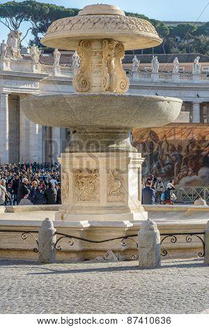 San Pietro A Fountain in the square