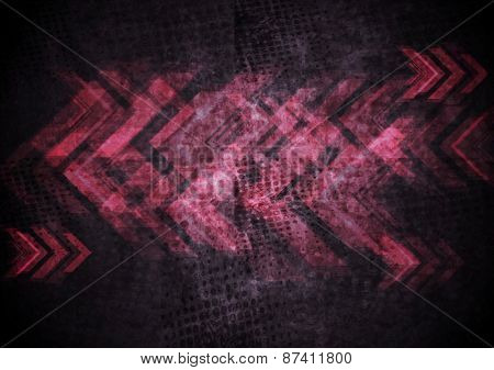 Grunge tech abstract background. Vector template