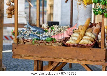 Food market in Campidoglio square