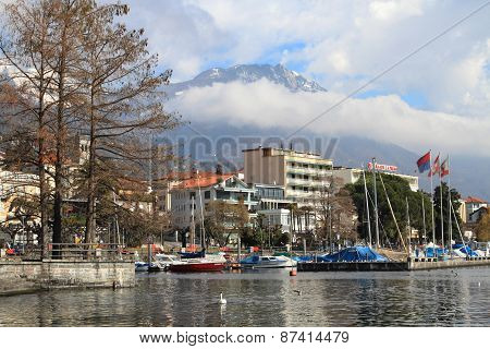 Lake Maggiore and Locarno city