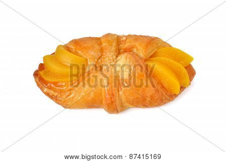 Peach Danish Isolated On White Background