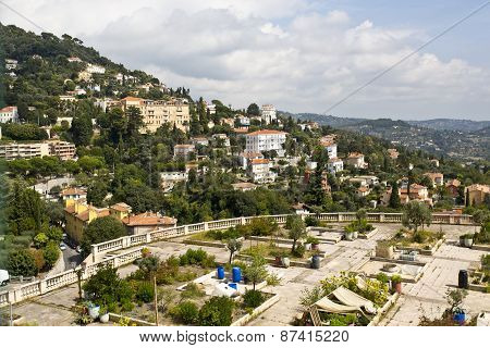 French City Of Grasse Built On A Hill