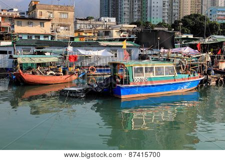 View of fishing village in Tung Chung