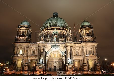 night view of Berliner Dom, Germany