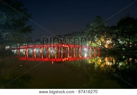 Huc Bridge Hanoi