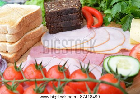 Ingredients For Sandwiches