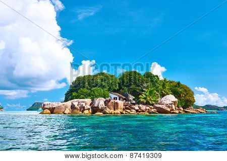 Beautiful tropical island at Seychelles