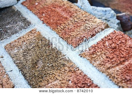 Brick Background Diagonal