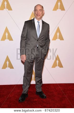 LOS ANGELES - FEB 02:  J.K. Simmons arrives to the Oscar Nominee Reception  on February 2, 2015 in Beverly Hills, CA