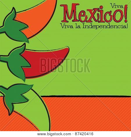 Hand Drawn Cinco De Mayo Chili Pepper In Vector Format.