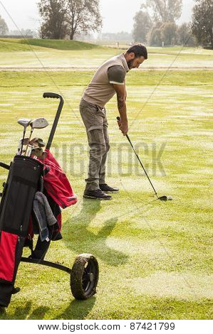 Tranquil Golf Player