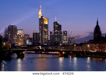 Frankfurt Skyline From River